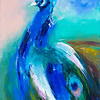 """Peacock"" (oil on canvas) by Galina Khandova"