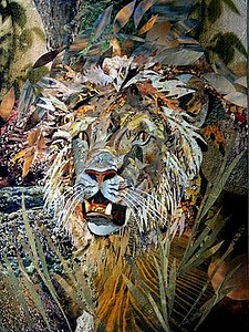 """Lion"" (collage) Bob Craig"