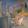 """""""The Monkey Rules Volubilis"""" (oil on canvas) by Louis Degni"""