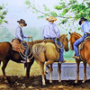 """End Of The Roundup"" (oil on panel) by Tricia Eisen"