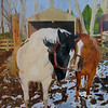 """Horse Love"" (oil) by Cheryl Kramer"