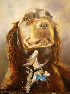 """Henry"" (oil on canvas) by Helen James"