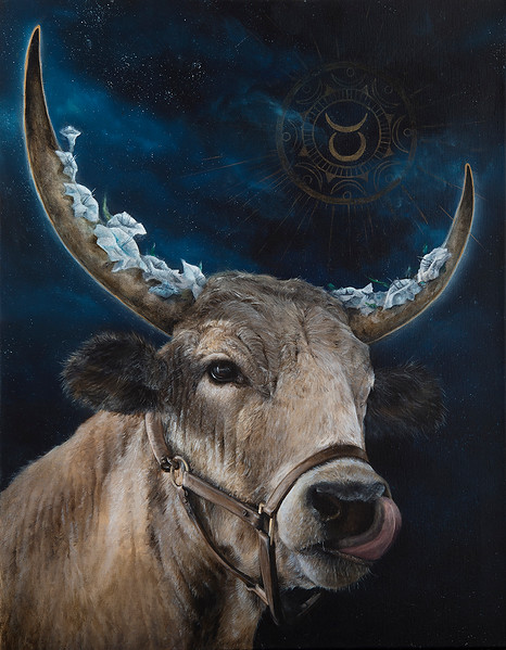 """TAURUS"" (oil) by Samantha Conrad"