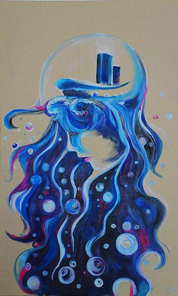 """""""The Medusa"""" (oil on canvas) by Anna Samsonova"""