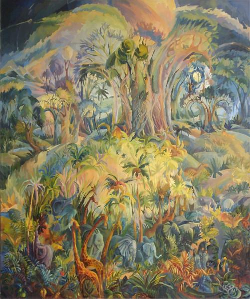 """""""Worid creation. Earth."""" (oil on canvas) by Anna Polnikova"""