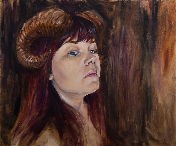 """""""Aries"""" (oil) by Samantha Conrad"""