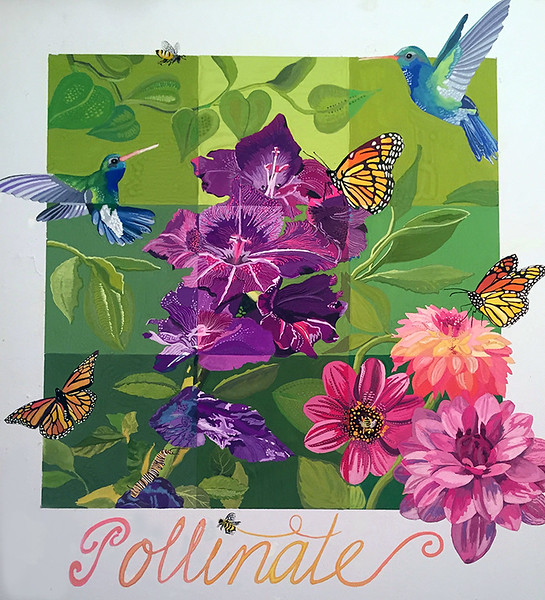 """Pollinate"" (gouache) by Rachel Emery"