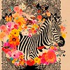 """Happy Zebra"" (print on canvas) by Anca Stefanescu"