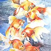 """Goldfishes"" (watercolor on paper) by Alfiya Mukhamedyanova"