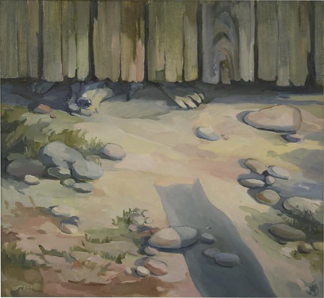 """""""Ruff ruff..."""" (oil on canvas) by Ann Starichenko"""