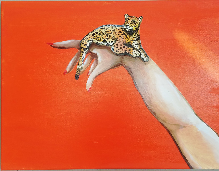 """""""Animals Are Not Accessories"""" (acrylic) by Kaylan Stovall"""