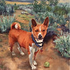 """Play Fetch"" (oil on linen) by Samantha Fried"