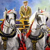 """Percherons"" (oil on canvas) by Helen James"