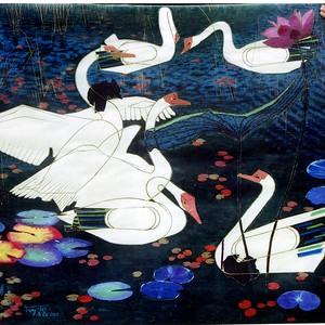 """An Elegant Dance"" (watercolor) by Lei Feng"