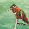 """Anna's hummingbird"" (watercolor) by Raymond Raza"