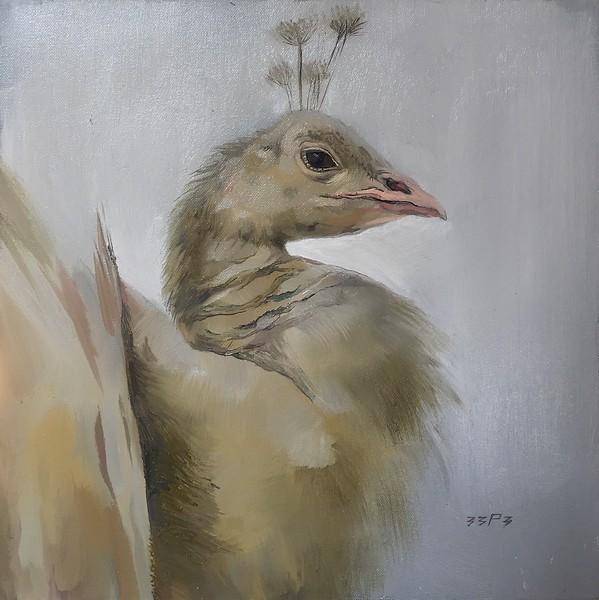 """Bird"" (oil on canvas) by Polina Kuzmina"