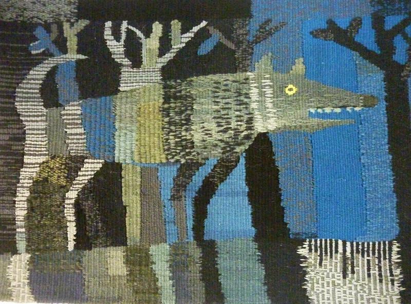 """Dark night"" (cotton, wool, acrylic) by Anna Krainova"