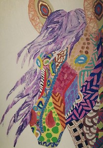 """""""Beauty"""" (acrylic) by Jennifer Comeau"""