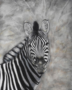 """Serene Stripes"" (colored pencil) by Caryn Coville"