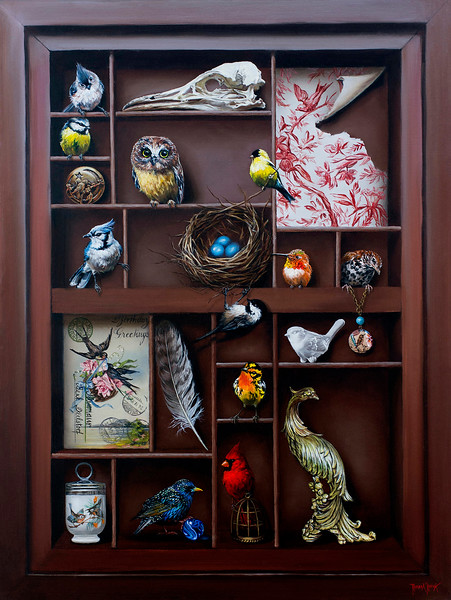 """The Collection"" (oil) by Rebecca Korth"