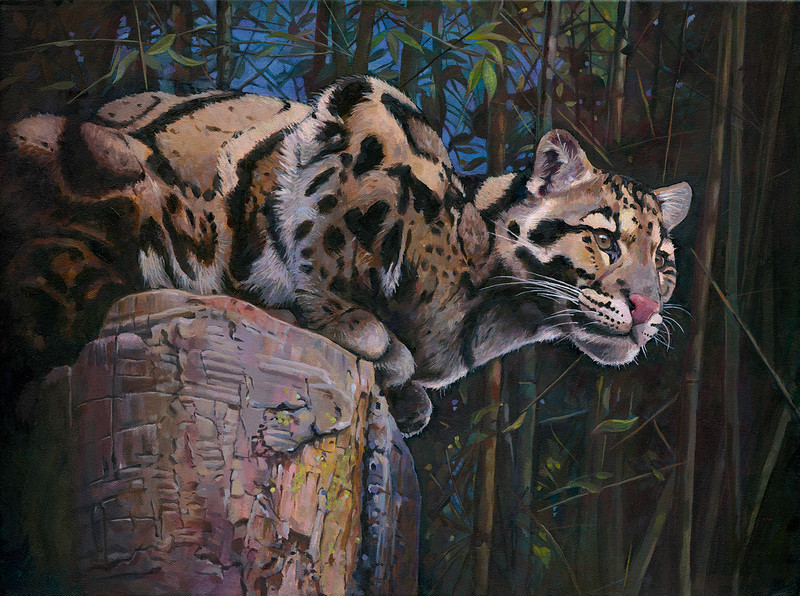 """The Lookout"" (acrylic on canvas) by Rich Tesner"