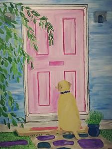 """Patients"" (acrylic) by Jennifer Comeau"