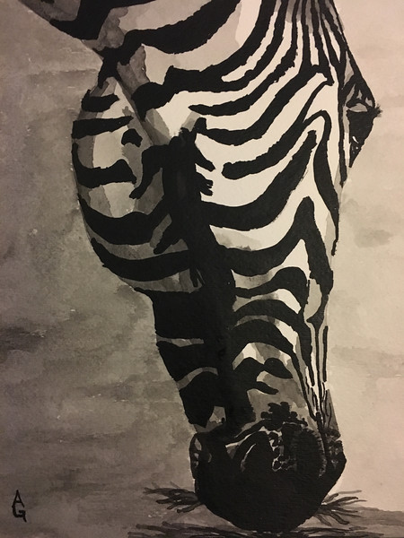 """""""The Grazer"""" (India Ink) by Ali Graves"""