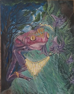 """The Queen Frog"" (oil) by Christina Gambino"