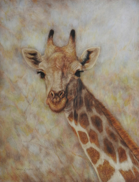 """""""Standing Tall"""" (colored pencil) by Caryn Coville"""