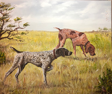 """Hunting"" (oil on canvas) by Crista Bromley"