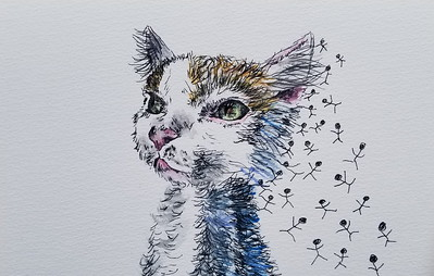 """Fall"" (pen, watercolor) by Jennifer Carberry-landis"