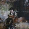 """Horse care"" (oil on canvas) by Elizaveta Pozharskaya"