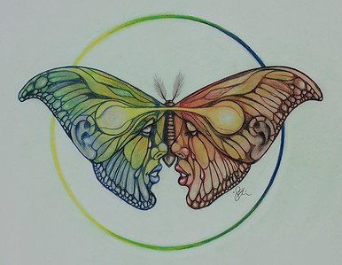 """Reflection and Growth"" (colored pencil) by Shannon Glenn"