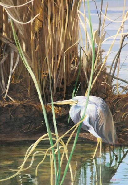 """A Little Blue"" (mixed media) by Debi Davis"