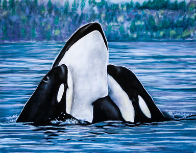 """""""A Mother's Love"""" (pastel on velour) by Holly Cannon"""