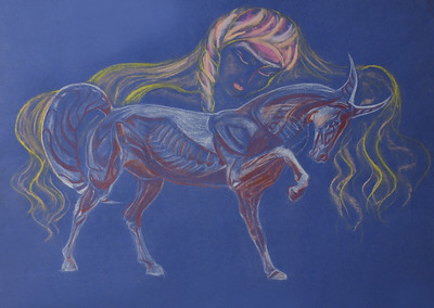 """Art"" (pastel and sanguine) by Fedulina Alexandra"