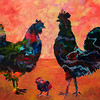 """""""Family Meeting"""" (mixed media) by Corrina Leidy"""