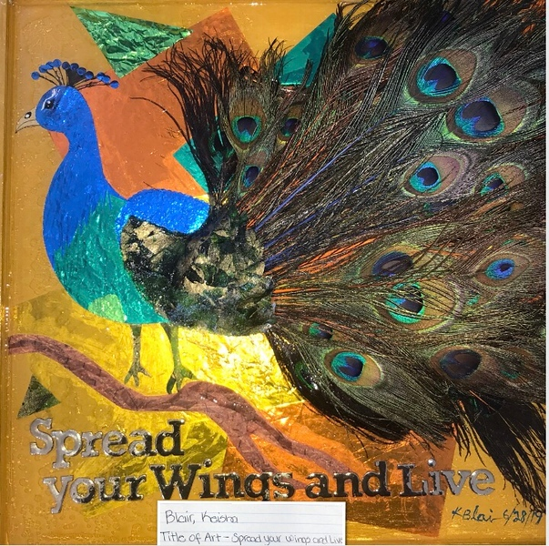 """Spread your wings and live"" (mixed media) by Keisha Blair"