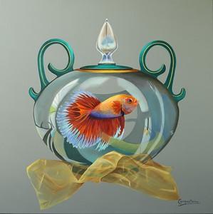 """""""Ephemeral"""" (acrylic on canvas) by Cecilia Campos"""