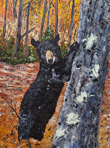 """Autumn's Mr. Bear"" (oil) by Stanton Allaben"