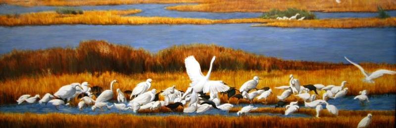 """""""The Breakfast Bar"""" (oil) by Debi Davis"""
