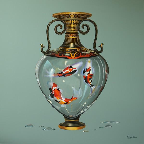 """""""Life"""" (acrylic on canvas) by Cecilia Campos"""