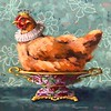 """Imperial Hen"" (oil on linen panel) by Ninalee Irani"