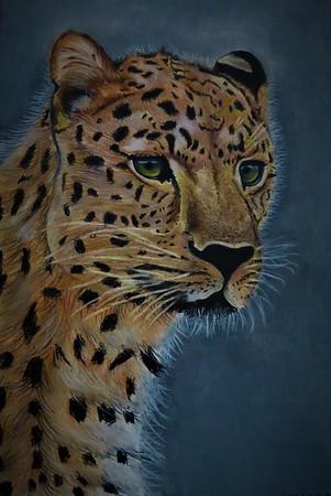 """""""Leopard"""" (pastel) by Arthi Arumugam"""