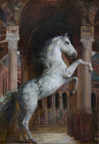 """Born to win"" (oil on canvas) by Elizaveta Pozharskaya"