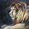 """The Lion"" (pastel) by Liudmila Yarovaia"