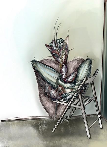 """""""Female mantis"""" (digital) by Maya Sahyndykova"""