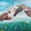 """Soaring greatness"" (wall enamel) by Natalia Kudrya"