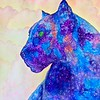 """Galaxy Panther"" (watercolor) by Sara Edge"