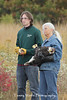 Fall Raptor Release, Carpenter Nature Center, Terry holding the bald eagle that Mary Wicklund rescued